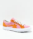 Converse x Golf Wang One Star Le Fleur zapatos de skate en rosa y naranja