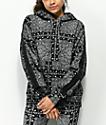 Converse x Miley Cyrus sudadera negra con capucha y estampado de cachemir