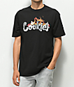 Cookies Burning Down The House Black T-Shirt