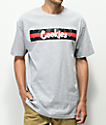 Cookies Cartegena Logo Stripe Grey T-Shirt