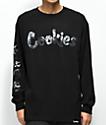 Cookies Clouds Black Long Sleeve T-Shirt