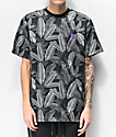 Cookies Emerald Triangle Allover Print Charcoal Short Sleeve Knit Shirt