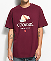 Cookies Fame y Fortune camiseta en color borgoño