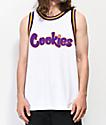 Cookies Hardwood Flava White Mesh Tank Top