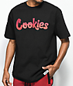 Cookies Horizon Thin Mint Logo camiseta negra