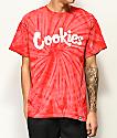 Cookies Thin Mint camiseta roja con efecto tie dye