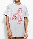 Cookies x 4 Hunnid camiseta en gris jaspeado