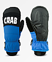Crab Grab Punch Black & Blue Snowboard Mittens
