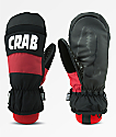 Crab Grab Punch Black & Red Snowboard Mittens