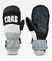Crab Grab Punch Grey & White Snowboard Mittens
