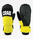 Crab Grab Punch mitones de snowboard en negro y amarillo