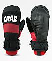 Crab Grab Punch mitones de snowboard en negro y rojo