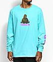 Create Zilla Scuba Blue Long Sleeve T-Shirt