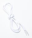 Crep cordones planos en blanco