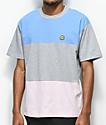 Cross Colours Block Light Blue T-Shirt