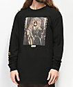 Cross Colours Hip-Hop Royalty Eazy-E Black Long Sleeve T-Shirt
