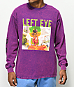 Cross Colours Left Eye Glasses Purple Long Sleeve T-Shirt