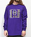 Cross Colours Neon Label Purple Long Sleeve T-Shirt