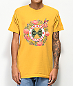 Cross Colours Rose Circle camiseta naranja
