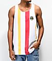 Cross Colours camiseta sin mangas de rayas multicolor