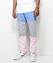 Cross Colours pantalones jogger en azul, gris y rosa