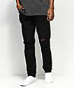 Crysp Denim Basket Woven Black Jeans
