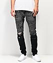 Crysp Denim Montana Black Dip Dye Denim Jeans