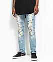 Crysp Denim Montana Blue Distressed Jeans