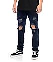 Crysp Denim Sanders jeans negros angustiados