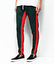 Crysp FB Dark Green & Red Track Pants