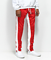 Crysp FB pantalones de chándal en rojo y blanco