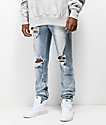 Crysp Pacific Blue Tint Skinny Jeans