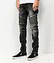 Crysp Skywalker Black Stone Moto Jeans