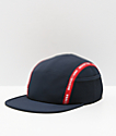DC Blockage Logo Taped Navy & Red Five Panel Strapback Hat