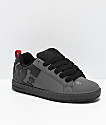 DC Court Graffik Grey & Black Skate Shoes