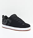 DC Court Graffik SE Black, White & Gum Skate Shoes