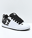 DC Court Graffik SE White & Black Skate Shoes