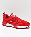 DC E. Tribeka zapatos rojos y blancos