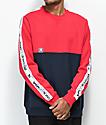 DC Kealey Red & Blue Crew Neck Sweatshirt
