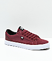 DC Lynnfield S Burgundy & White Skate Shoes