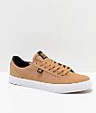 DC Lynnfield S zapatos de skate en marrón y blanco