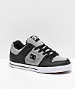 DC Pure SE Heather Grey, Black & White Skate Shoes