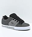 DC Pure TX SE Black, Battleship zapatos de skate en gris y blanco
