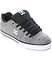 DC Pure TX SE Light Grey Skate Shoes