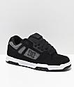 DC Stag Black, White, Grey, Tweed & Nubuck Skate Shoes