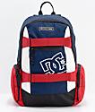 DC The Breed mochila mediana azul, rojo y blanco