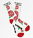 DGK Bloom White Crew Socks