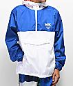 DGK Boardwalk chaqueta cortavientos azul y blanca