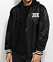 DGK Double Play Black Hooded Bomber Jacket