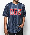 DGK Grounder jersey de béisbol en azul marino